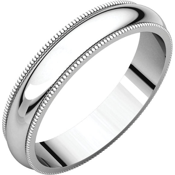 Milgrain Light Wedding Bands (MGL)