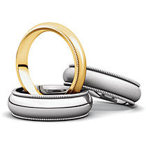 Milgrain Comfort Fit Light Wedding Band (MGRL)