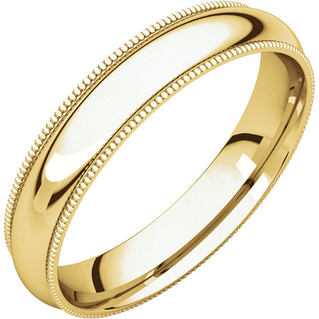 Milgrain Comfort Fit Wedding Band (MGR)