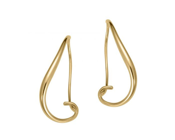 Ed Levin Sterling Silver With 14kt Gold Overlay Napa Earrings