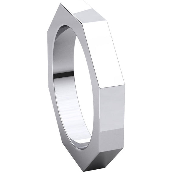 Octagon Wedding Band