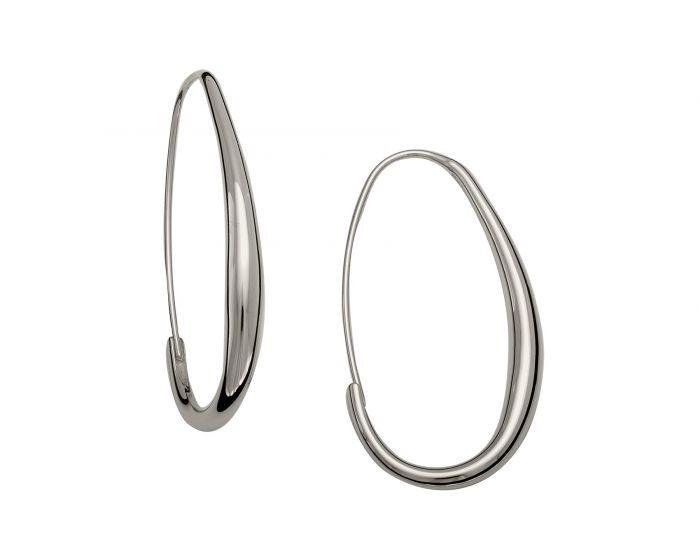 Ed Levin Sterling Silver Oval Hoops