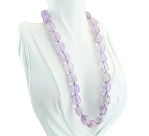 "18"" Pale Amethyst Beaded Necklace"