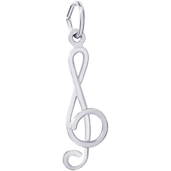 Sterling Silver Treble Clef Charm #0292