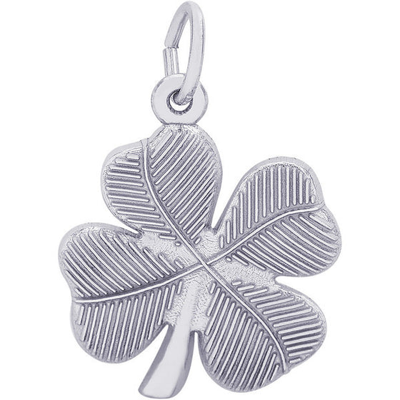 Sterling Silver Four Leaf Clover Charm #0395