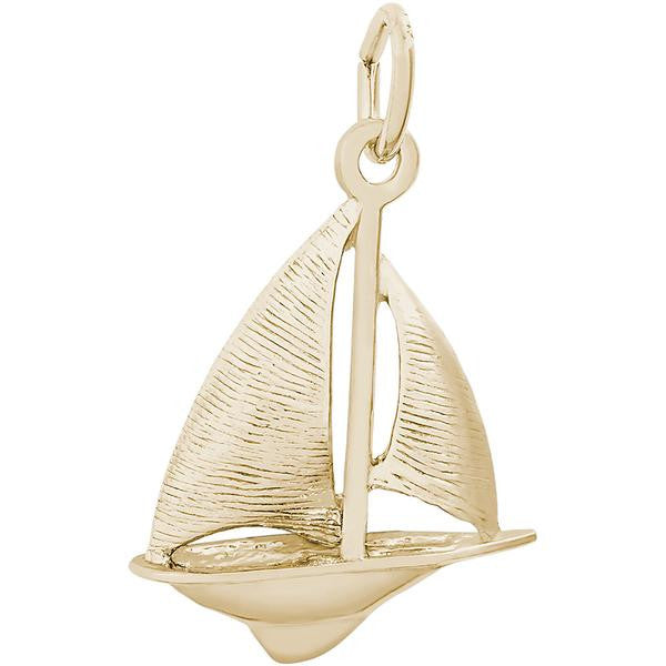 Sloop Sailboat Charm #0529