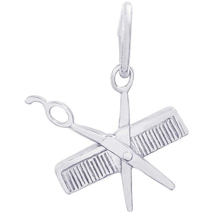 Comb and Scissors Charm #0799