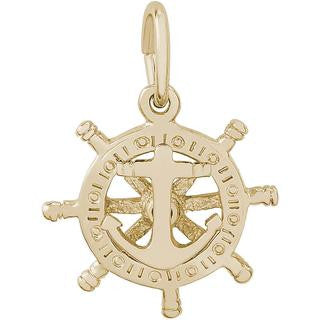 Wheel Anchor Charm #1668