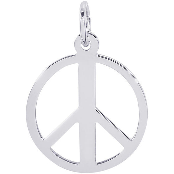 Sterling Silver Peace Symbol Charm #2148