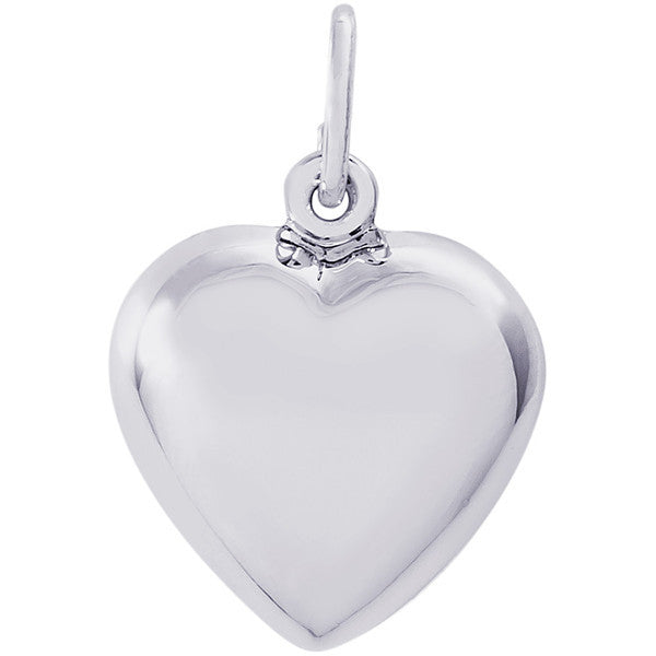Sterling Silver Puffy Heart Charm #6049
