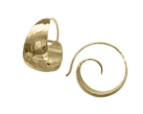 Ed Levin 14kt Gold Ringlet Earrings