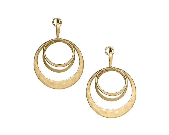 Ed levin 14kt Gold Ripple Earrings