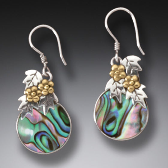 """After the Flood"" Paua Shell and Sterling Silver Earrings"
