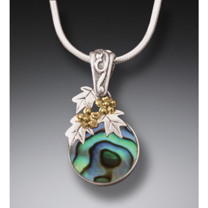 """After the Flood"" Paua Shell and Sterling Silver  Pendant"