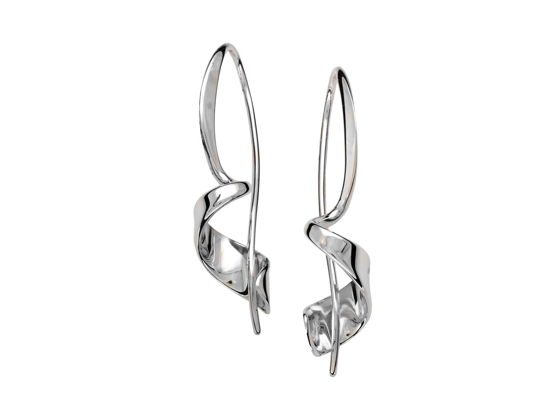Ed Levin Sterling Silver Corkscrew Earrings