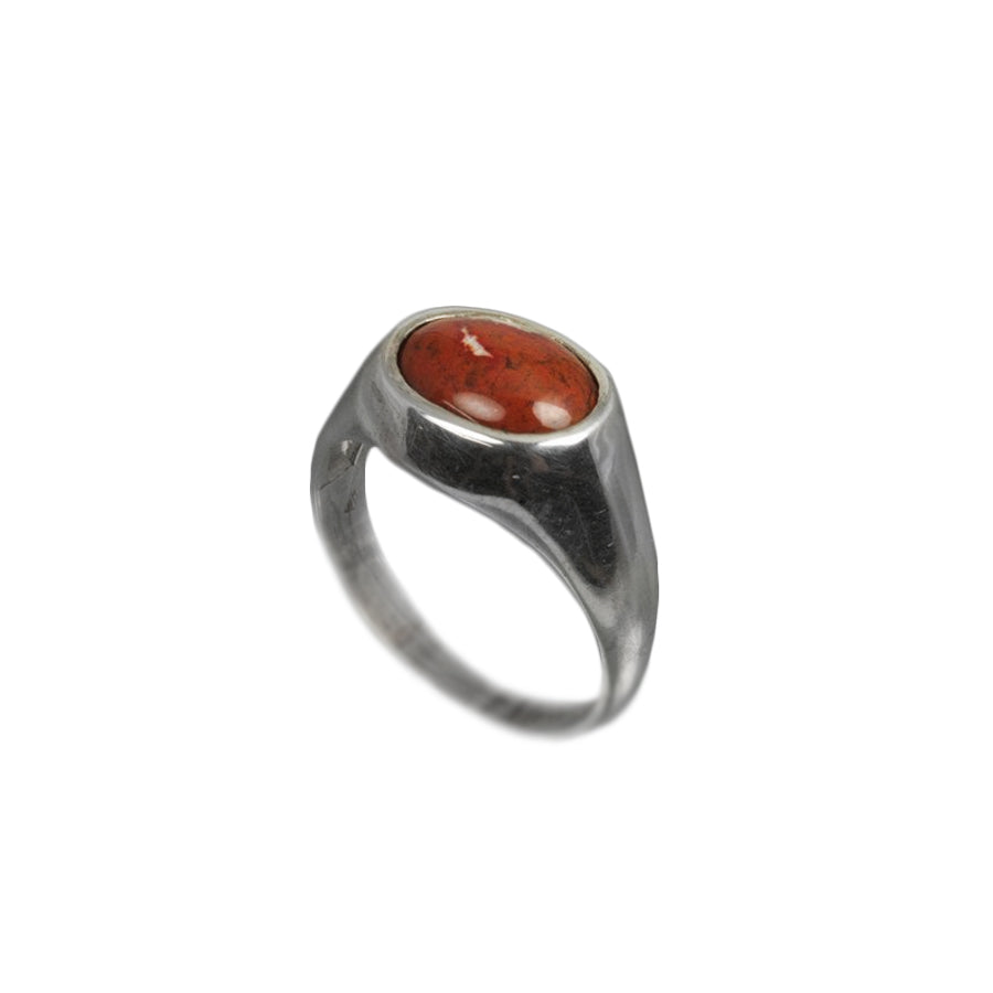 Deer Isle Jasper Sterling Silver Ring
