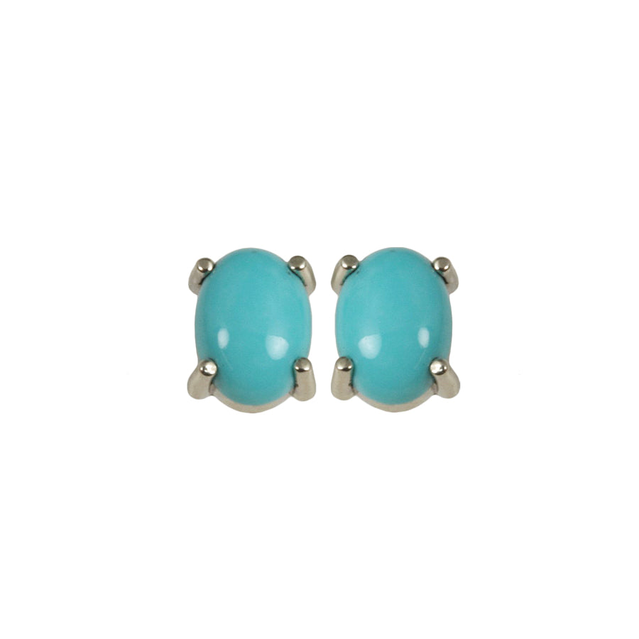 Turquoise 14kt Gold Post Earrings