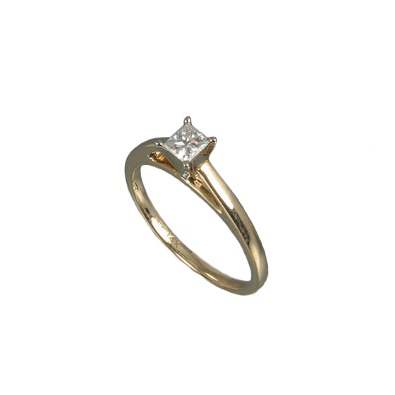 Princess Cut 14kt Two Tone Diamond Ring