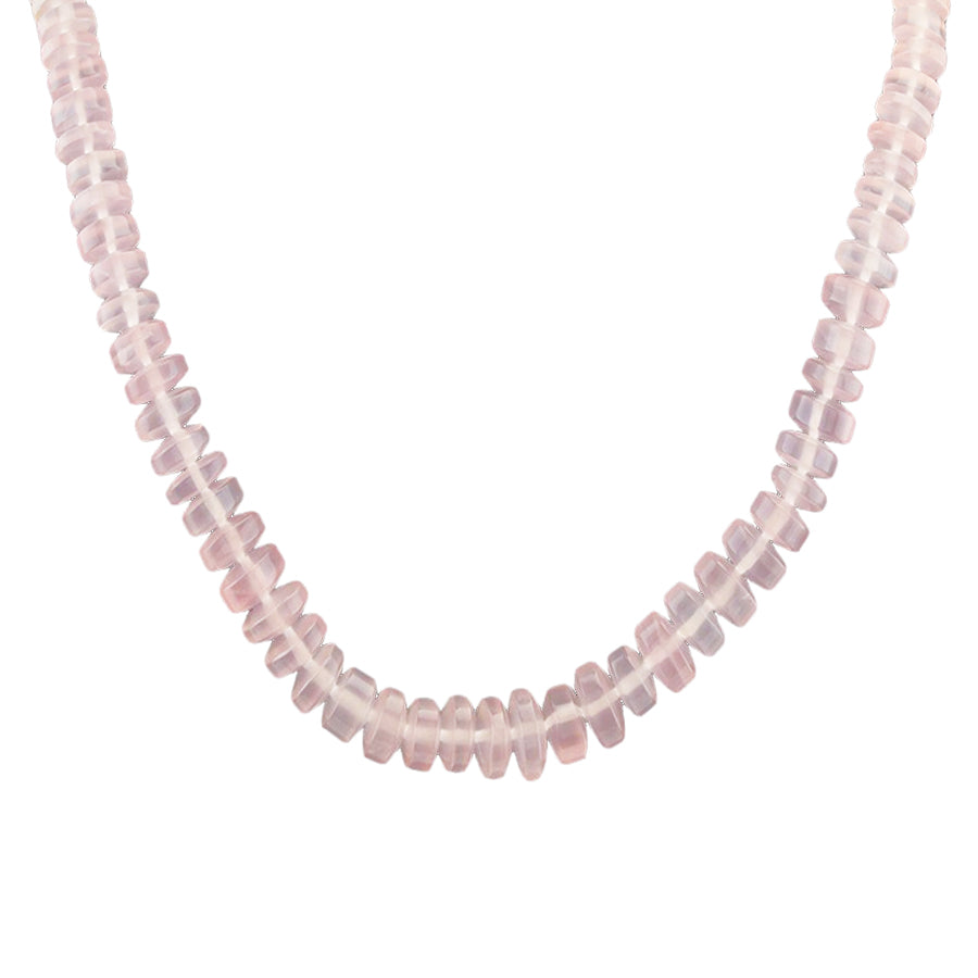 "18"" Rose Quartz Rondell Necklace"