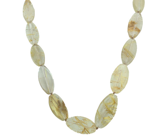 Rutilated Quartz Necklace 19""