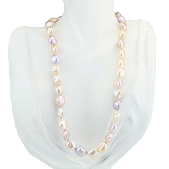 Freshwater Multicolor Pastel Necklace 19""