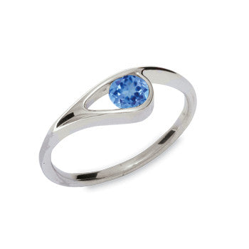 Blue Topaz Ed Levin Gem Embrace Ring RI361