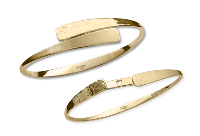 Ed Levin 14kt Gold Secret Heart Bracelet