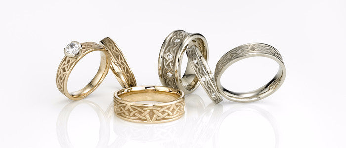 Studio 311 Celtic Arch Wedding Bands