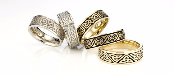 Studio 311 Bold Celtic Wedding Bands