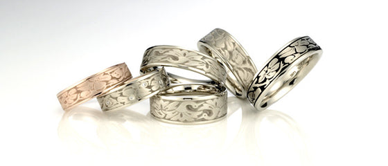 Studio 311 Cherry Blossom Wedding Bands