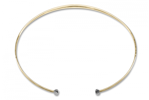 Silver with 14K Gold Gold Moon Glow Collar - Ed Levin