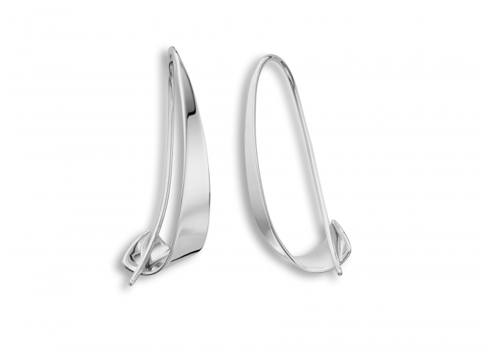 Sterling Silver Windswept Earrings