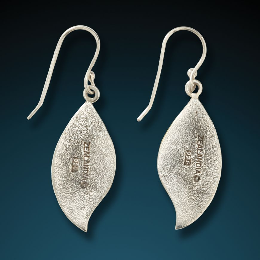 """SEED PODS"" SILVER AND FOSSILIZED MAMMOTH SEED POD EARRINGS"