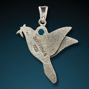 """DOVE PENDANT""  ANCIENT MAMMOTH IVORY DOVE PENDANT"