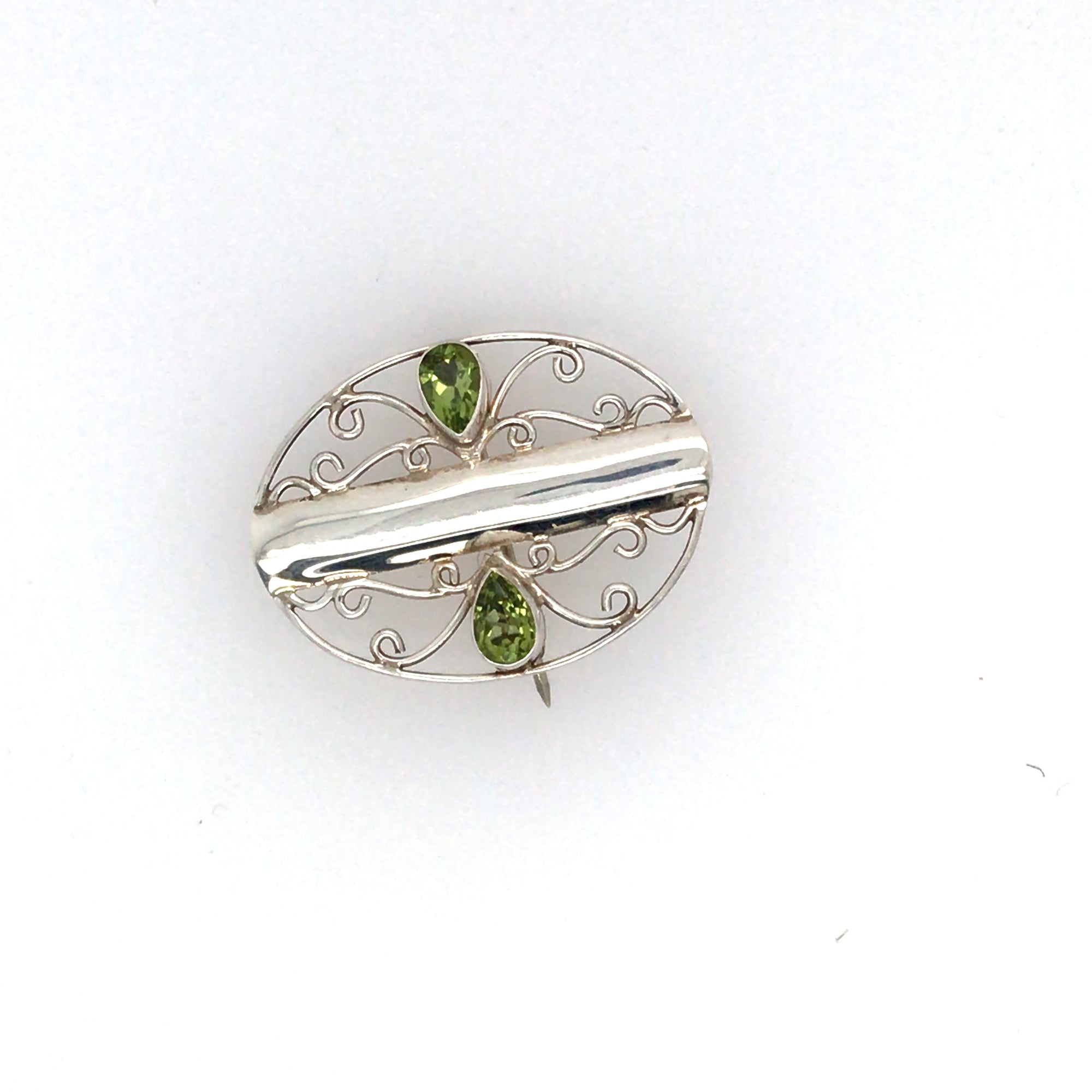 Peridot Sterling Silver Pin or Pendant