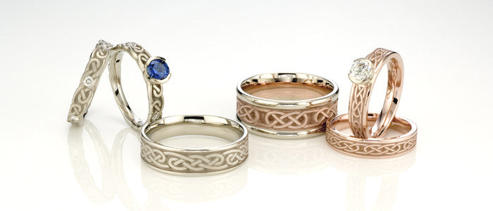 Studio 311 Infinity and Love Knot Wedding Bands
