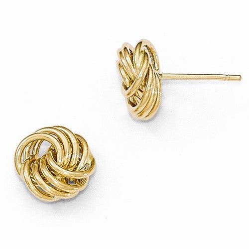Leslies 14kt Yellow Gold Love Knot Polished Earings