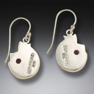 """COZY CATS"" FOSSILIZED MAMMOTH IVORY CAT EARRINGS"