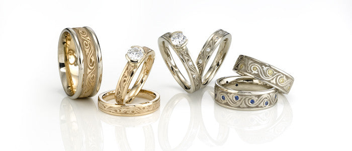 Studio 311 Wind & Waves Wedding Bands