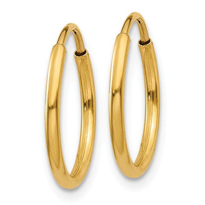 14kt 1.25mm Endless Hoop Earrings