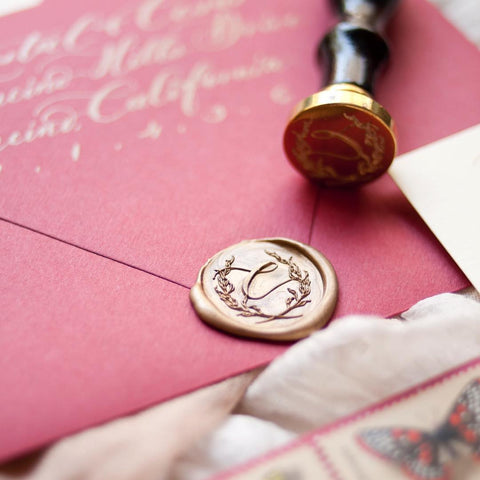 initial wax seal stamp