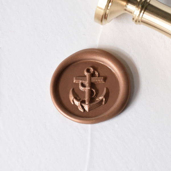 Anchor Brass Wax Stamp