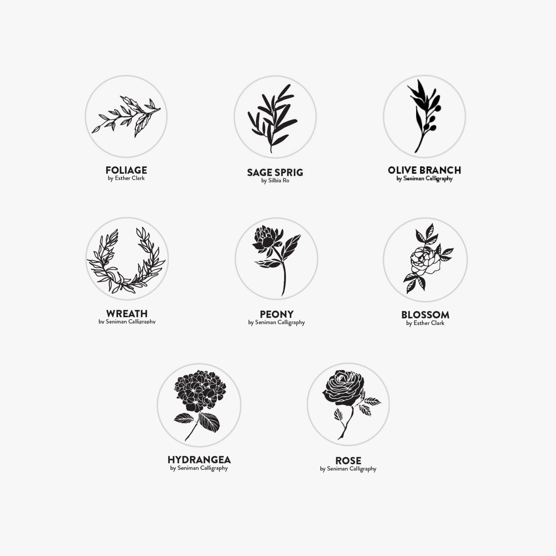 Botanical Wax Stickers