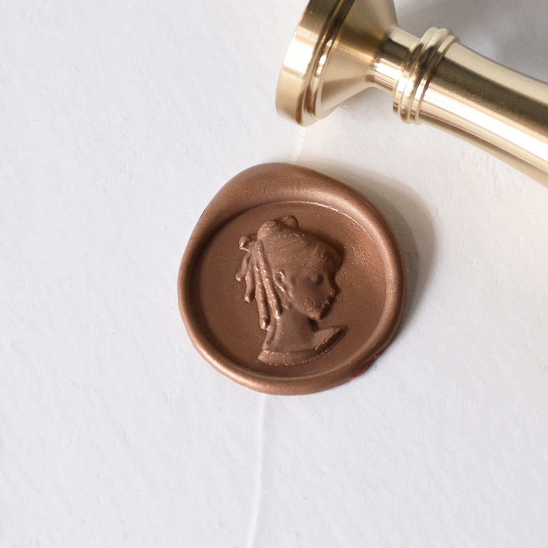 Cameo Brass Wax Stamp