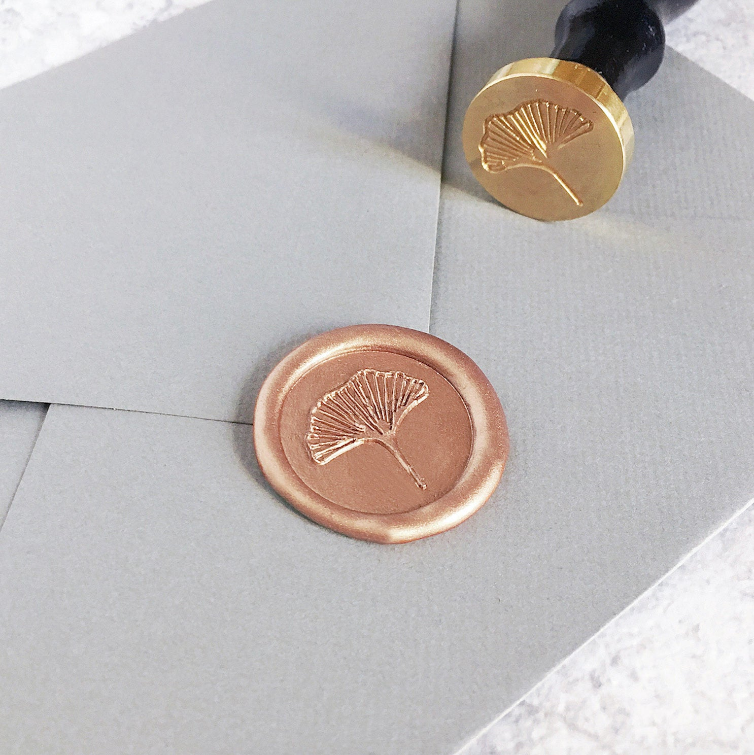 Ginkgo Leaf Wax Seal