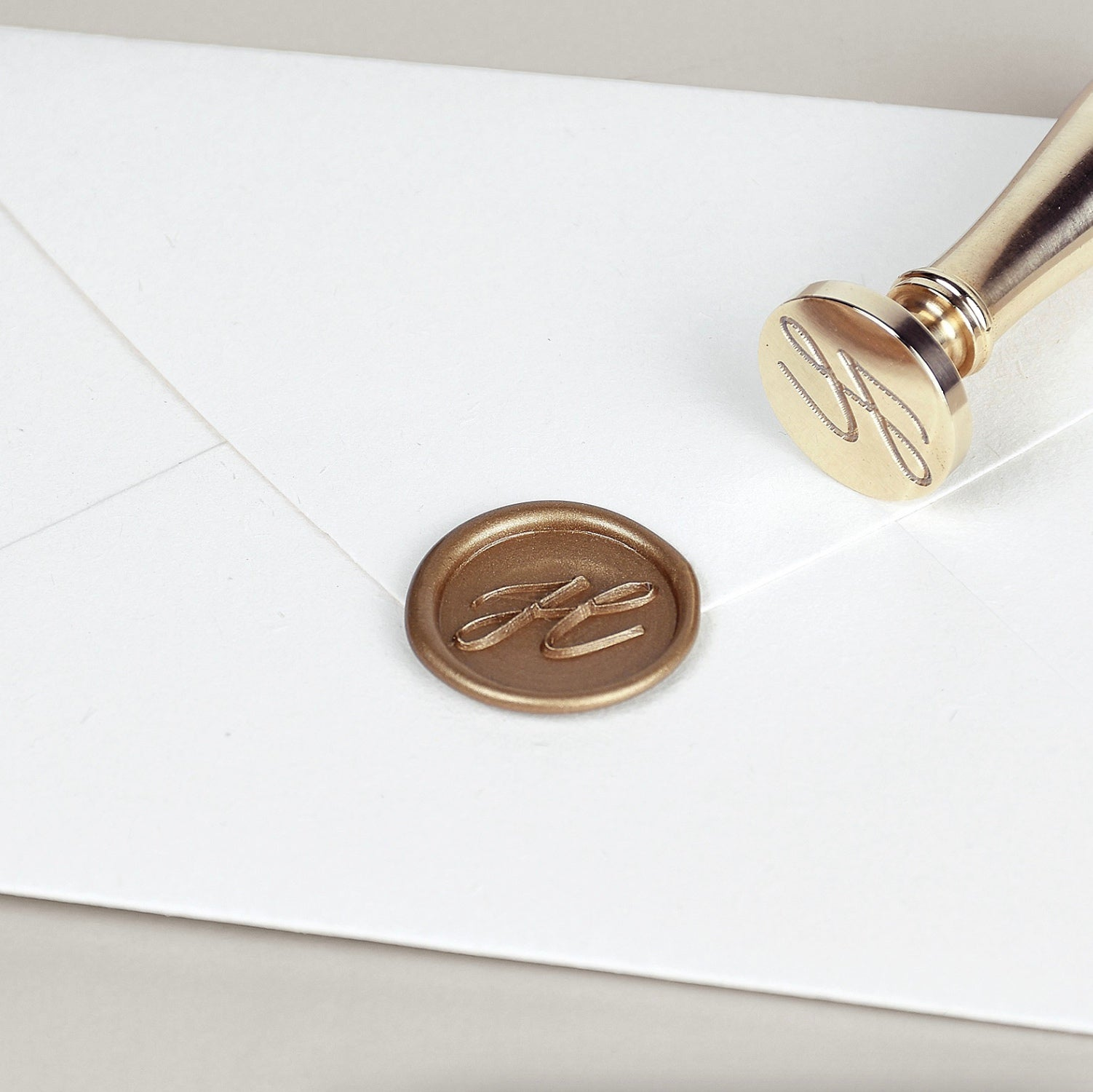 Initial Heirloom Brass Stamp