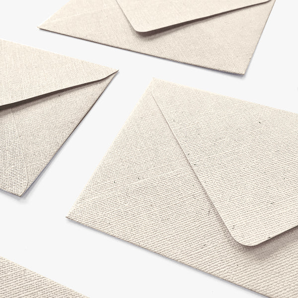 Recycled Paper Envelopes with Linen texture