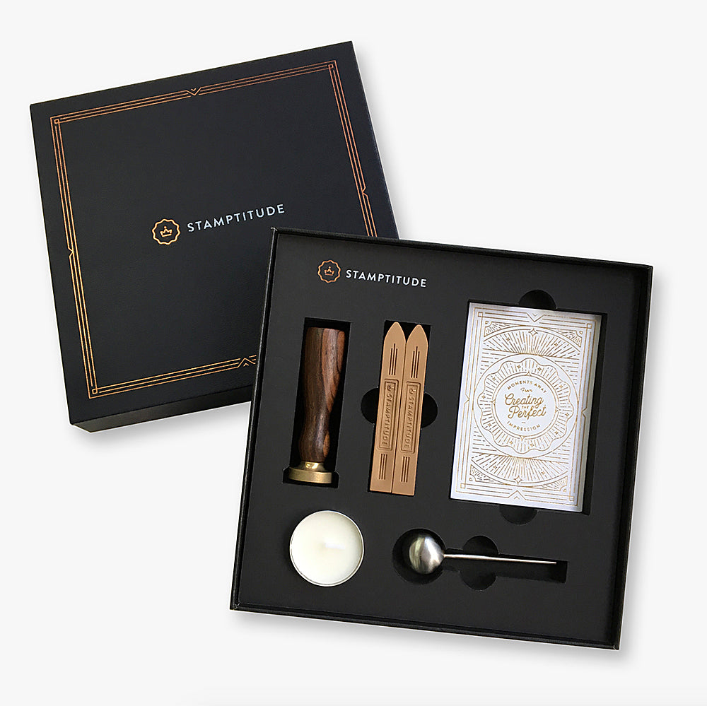 Gift Box with Initial Wax Seal Stamp Gift Wrapping Wax Seal Stamp Birthday Gift Wax Seal Gift Package Wax Seal Children Gift Stamp