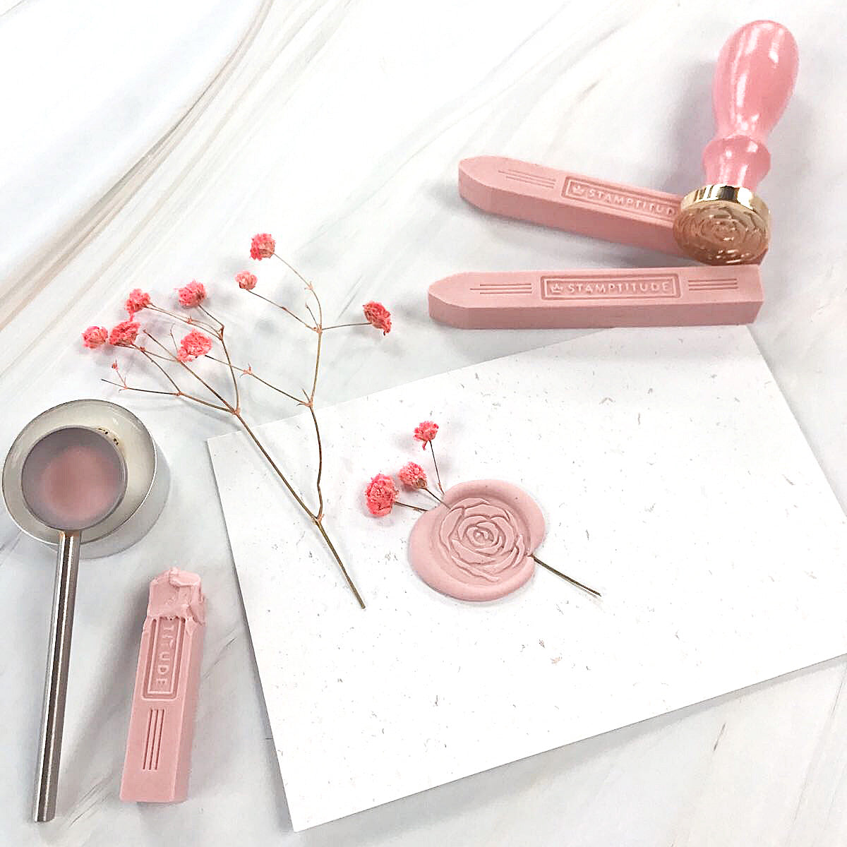 stamptitude blush wax seal