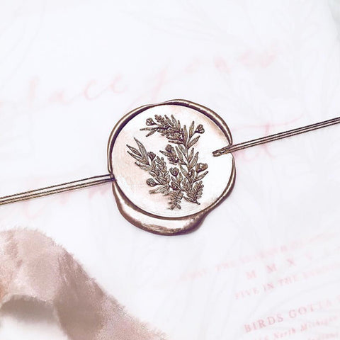 carnation flower wax seal